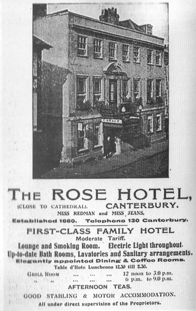 Rose Hotel advert
